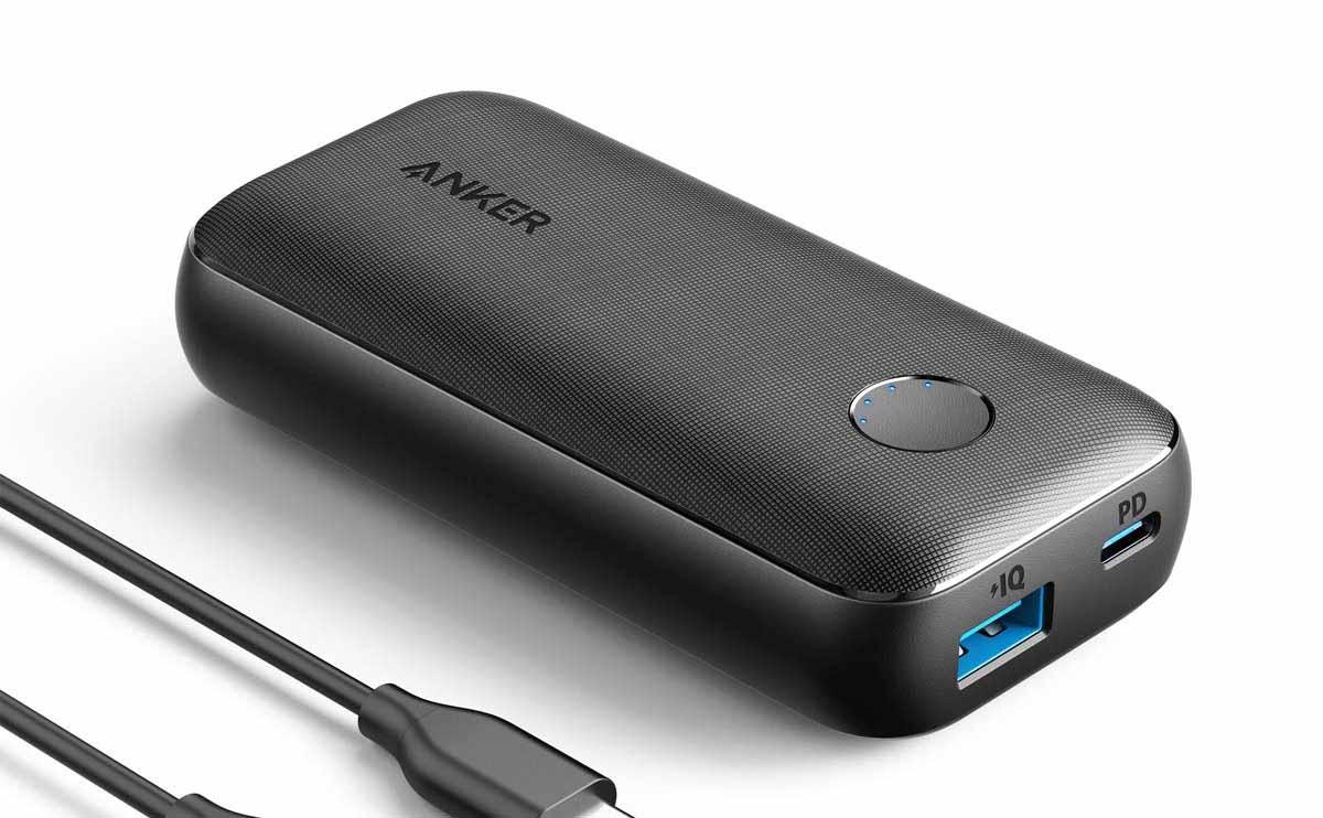 軽くて小さくて容量もある、三拍子揃ったおすすめモバイルバッテリー『Anker PowerCore 10000 PD Redux』