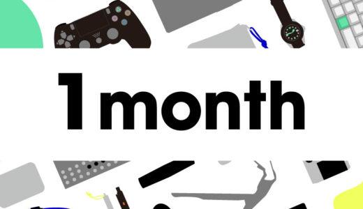 ブログ始めて1か月経ちました。